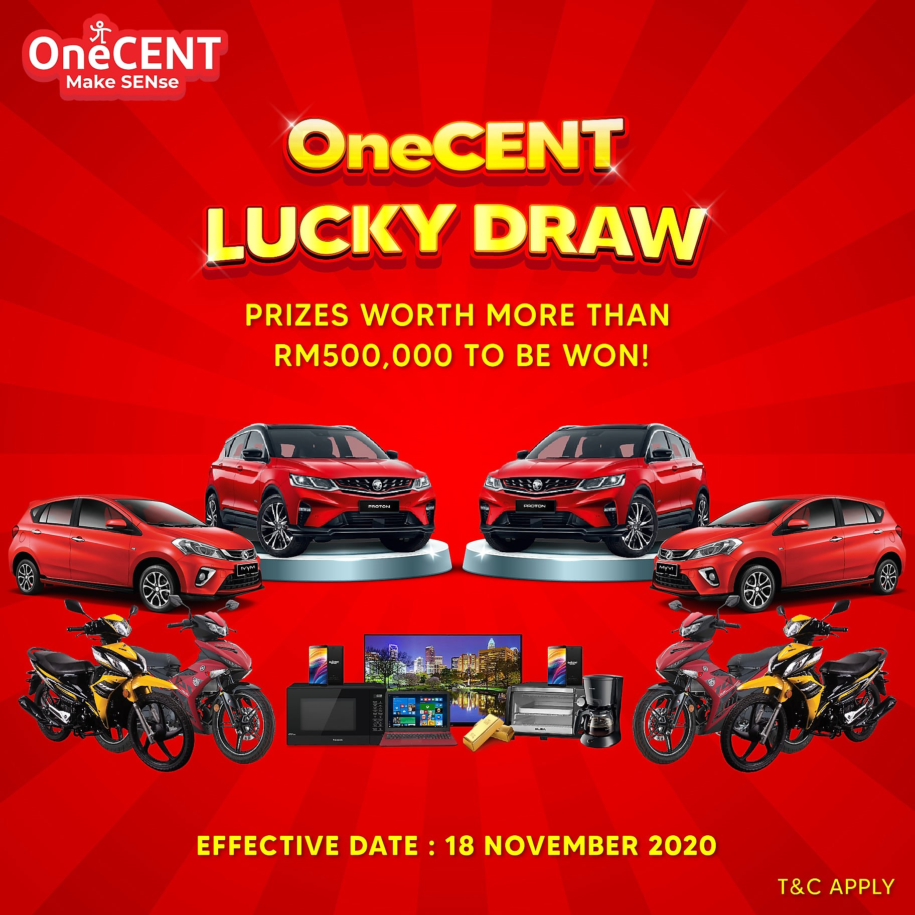 OneCENT Lucky Draw